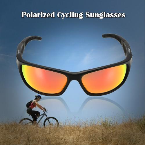 Docooler de bicicletas de ciclismo gafas de sol polarizadas Gafas de protección UV deportes al aire libre Montar en bicicleta Conducción Pesca Gafas de sol Gafas de Hombres Mujeres