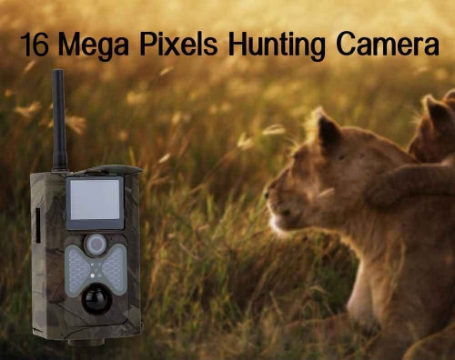 Lixada 2G / 3G GSM WCDMA MMS / SMS / SMTP-16MP 0,5S Triggerzeit 120 ° Weitwinkelobjektiv tragbare Wildjagd-Kamera HD-Digital-Infrarot Scouting-Hinterkamera 940NM IR LED Nachtsicht 1080P Video Recorder
