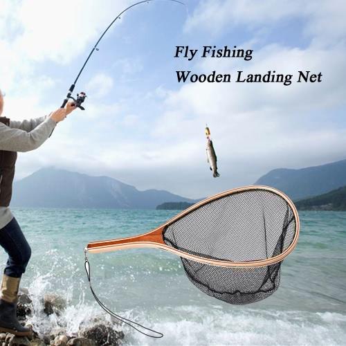 Pesca a mosca Guadino manico in legno fish frame fermo e rilascio netto portatile leggero