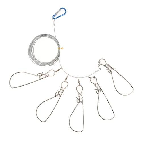 5 Snaps de acero inoxidable pescado Stringer Pesca Accesorios Tackle Tool
