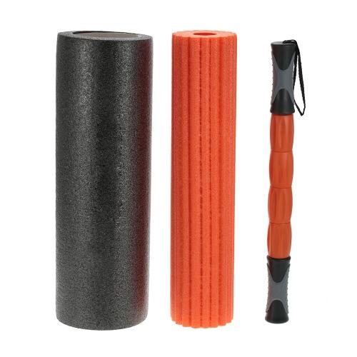 45 * 15cm 3-en-1 Yoga aptitud del ejercicio del masaje del punto de Espuma de Yoga Yoga rodillo Columna masaje de puntos gatillo palillo de gimnasio en casa