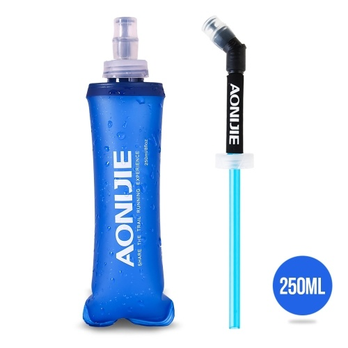 AONIJIE Sports Foldable BPA Free Soft Running Water Bottle Soft Hiking Flask Hydration Bottle with Extra Straw