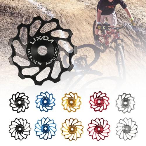 Lixada MTB bicicleta de carretera Polea de cerámica de aleación de aluminio 7075 de la guía posterior Desviador 11T ciclismo Cerámica de cojinete de rueda Jockey