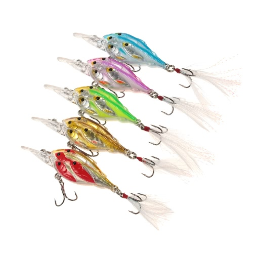 1pcs 7cm / 6g Fishing Lure esche artificiali mosca esche da pesca piuma Swimbaits duri