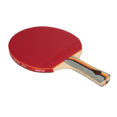 1pcs Sport Ping Pong racchetta della pala di Long / Short Maniglia Dual-side Shake-mano Pen-tenere-style Looping Ping pong del blocco della racchetta con la cassa del sacchetto per Loop Player