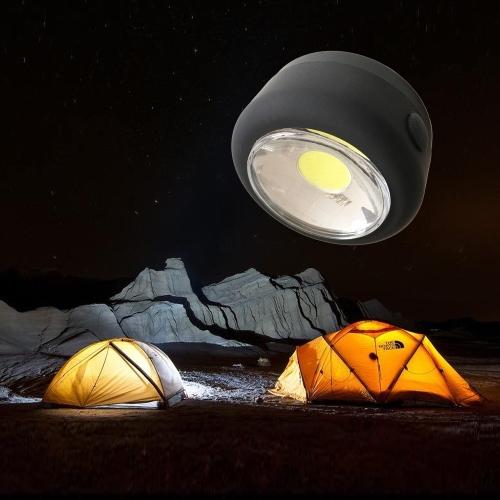 Mini bolsillo portátil 300LM brillante LED linterna ligera lámpara colgante magnética lámpara de la tienda para ir de excursión al aire libre que acampa pesca