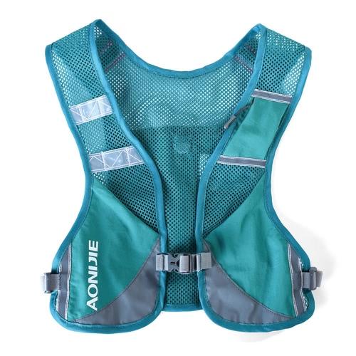 AONIJIE Premium Reflektierende Laufweste geben Sport Wasserflasche zum Laufen Radfahren Kleidung für Frauen Männer Sicherheitszubehör mit Tasche mit reflektierender hoher Sicht