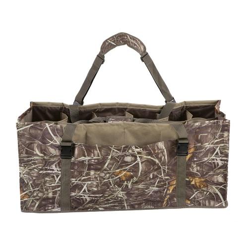 12 Слот Duck Decoy Bag Проложенный регулируемый плечевой ремень воды Dirt дренажная система