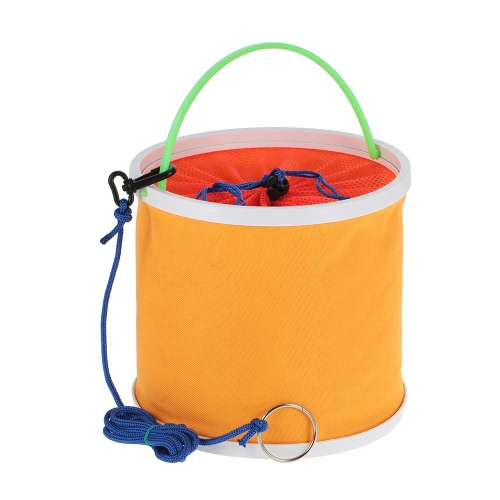 Outdoor Oxford Cloth Benna pieghevole Bucket Portatile Camping Escursioni Pesca Bench Pesca Attrezzi Tackle