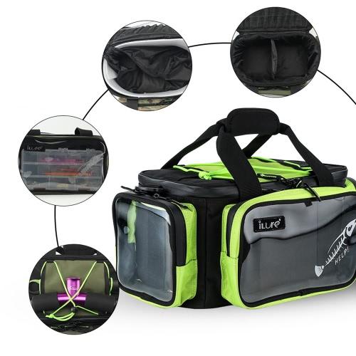 Многофункциональный рыболовный снасти сумка Открытый спортивный рыболовный наплечная сумка Приманки Снасти Коробка передач Утилита Сумка для хранения фото