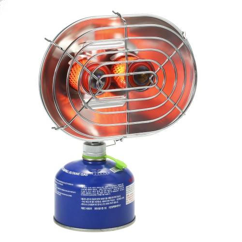 Двойной головной открытый нагреватель Портативный инфракрасный луч кемпинг Отопление Печь Отопление Отопление Газовая плита фото
