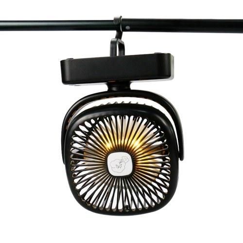 Mini ventilatore da campeggio portatile da viaggio con luci a LED