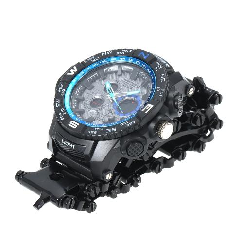 Pulseiras de aço inoxidável Wearable Ferramentas LED Sports Watches