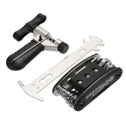 Bike Chain Cutter Breaker 16-in-1 Набор инструментов для ремонта велосипеда Многофункциональный велосипедный комплект для снятия цепи