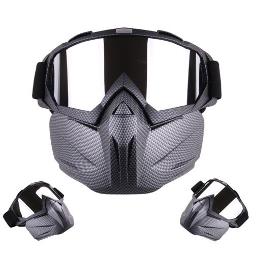 Casco da motociclista Equipaggiamento Maschera modulare snella staccabile Occhiali protettivi traspiranti antivento all'aperto