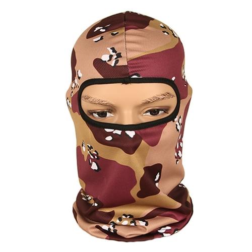 Copricapo di Camouflage Mask Face Face Cappuccio per sport esterno per la caccia all'aperto per motociclismo