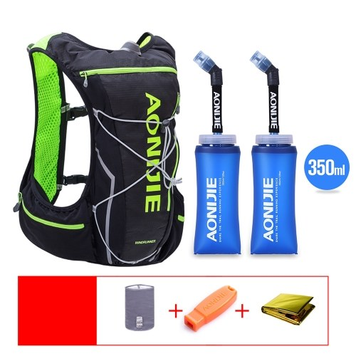 AONIJIE Hydration Pack Backpack Water Bladder Vest with 2 BPA Free Soft Water Bottle for Running