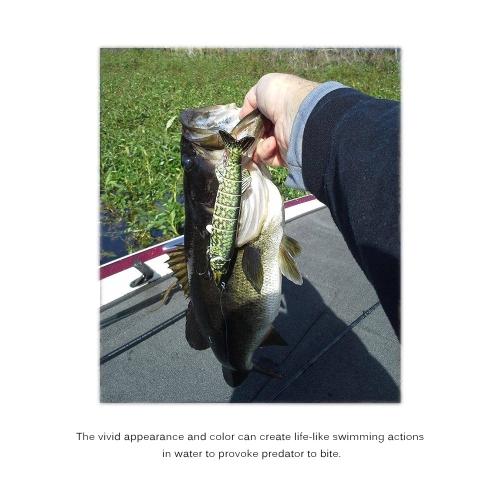 Lixada 5PCS 10cm/20g Lifelike 6 Jointed Sections Swimbait Fishing Lure Hard Bait Fish Hook Fishing Tackle
