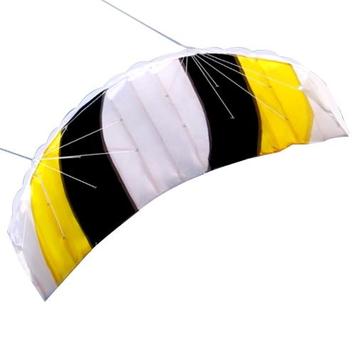 Dual Line Stunt Parafoil Drachen Outdoor Sports Spaß Strand Fliegen Kite Spielzeug mit 30 Mt Linie