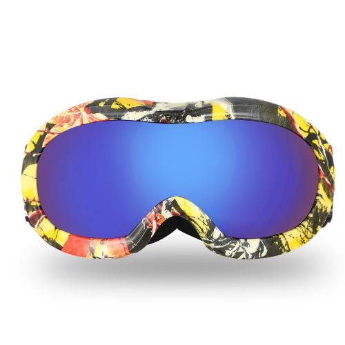 Lixada Anti-Fog Ski Goggles Защита от ультрафиолетовых лучей Двойные линзы для сноуборда Ветрозащитный конькобежный спорт для лыжников для лыжников для детей