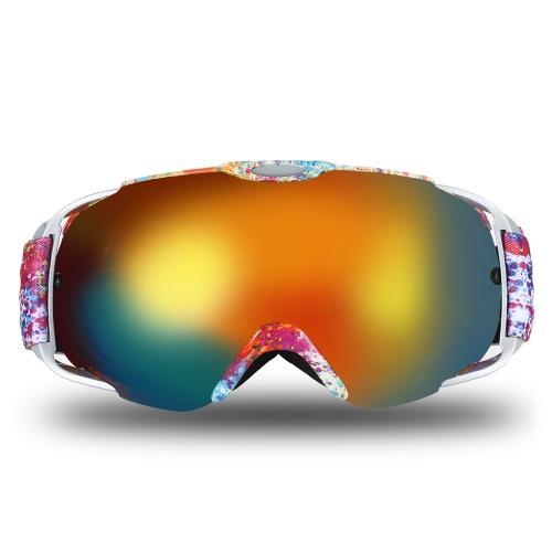 Lixada Adultos Gafas de Esquí Invierno Nieve Deportes Snowboard Gafas Ventiladas Antivaho esférico Dual Lens para Snowmobile Esquí Patinaje
