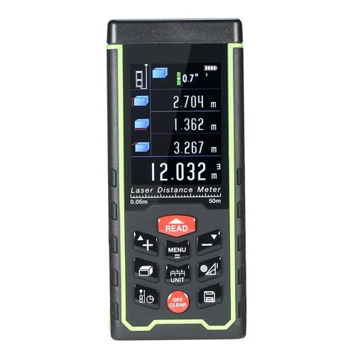 Mini Handheld LCD Digital Laser Entfernungsmesser USB Entfernungsmesser Entfernung Bereich Volumenmessung 100 Gruppen Datenspeicherung