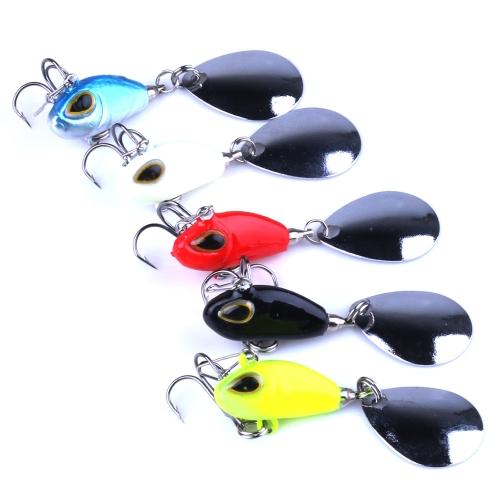 5PCS 2.5cm/11.5g Vibration Lure VIB Fishing Lures Jig Bait for Fishing Bass Trout Carp Salmon