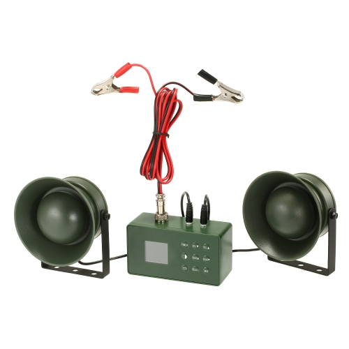 Caza al aire libre Bird Decoy Bird Caller 50W 150DB Amplificador Depredador Reproductor Mp3 Bird Sound Wildlife Señuelo Llamador