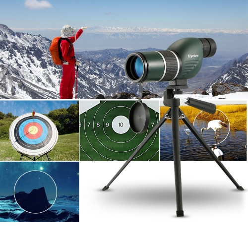 12-36x50 Straight / Angled Spotting Scope with Tripod Portable Travel Scope Monocular Telescope with Tripod Carry Case for Bird Watching Camping Backpacking thumbnail