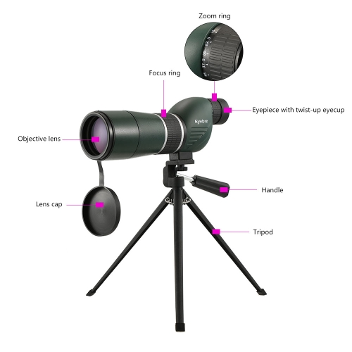 15-45x60 Straight / Angled Spotting Scope with Tripod Portable Travel Scope Monocular Telescope with Tripod Carry Case for Bird Watching Camping Backpacking thumbnail