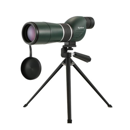 20-60x60 Straight / Angled Spektiv mit Stativ Portable Travel Scope Monocularteleskop mit Stativ Tragetasche für Vogelbeobachtung Camping Backpacking