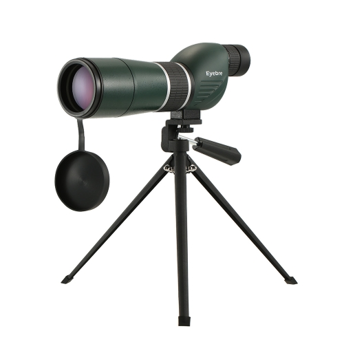 20-60x60 Alcance de medición recto / en ángulo con trípode Alcance de viaje portátil Telescopio monocular con estuche de transporte para observación de aves Camping Backpacking