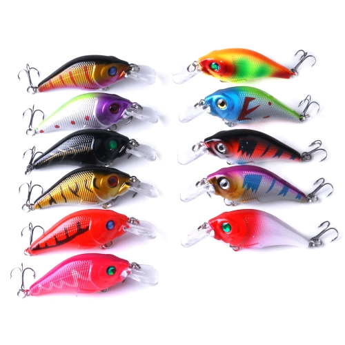 11PCS рыболовные приманки Crankbaits Fishing Lures Set Искусственные приманки 3D-рыбий глаз Hard Lures Bait High Imitation Swim Bait