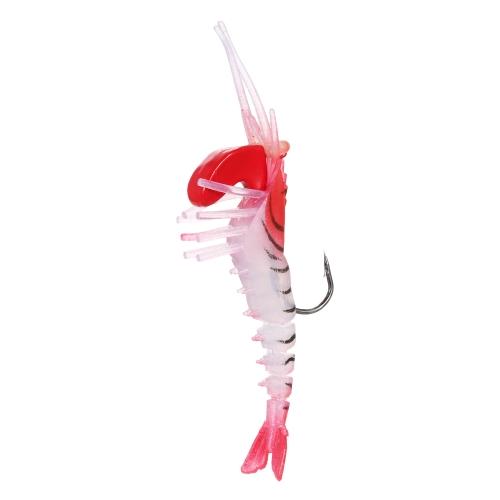 7 cm / 12 g pesca gamberetti esche artificiali esche morbide gamberetti pesca gambero crawl esche con testa pesante e gancio singolo