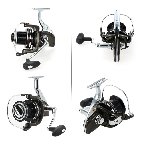 12+1 Ball Bearing 4.9:1 Models 8000 Super Smooth Spinning Fishing Reel Full Metal Body and Metal Spool Right/Left Interchangeable thumbnail