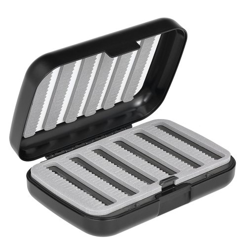 Due strati quattro Fly Box Easy Grip Schiuma portatile Pocket Fly Fly Flies Box