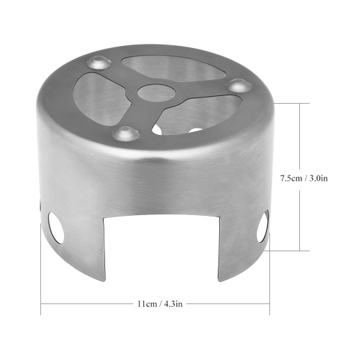 Portable Outdoor Mini Alcohol Stove Rack Windscreen Camping Hiking Backpacking