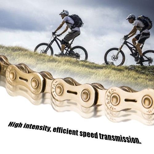 Silver Mountain Bike Road Bicycle Accessories Practical Bicycle Chain for 6 / 7 / 8 Speed Image