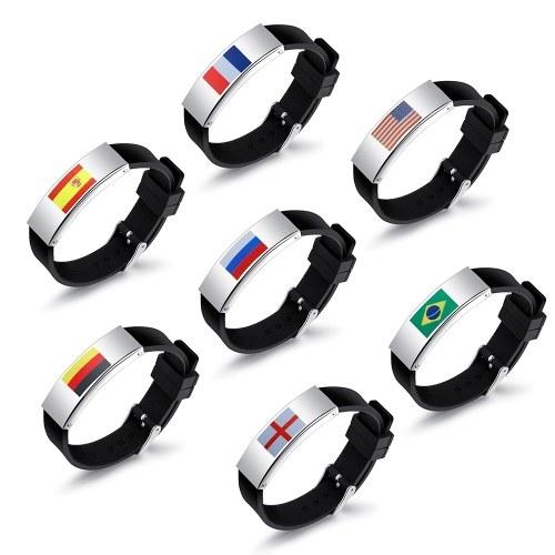 2018 Football Coupe du Monde Drapeau Motif Sport Bracelet