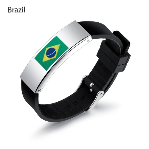 61% OFF 2018 Football World Cup Flag Pattern Sports Bracelet,limited offer $2.87