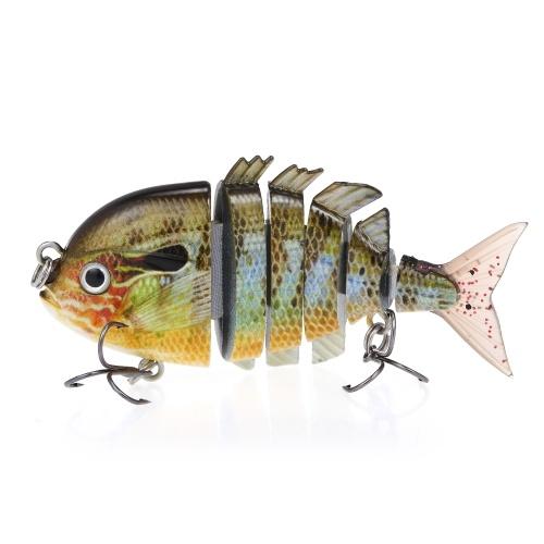 Lixada 8cm 15g 6 Segmento Fishing Lure Multi Jointed Hard Bait Sinking Lure per Bass Fishing