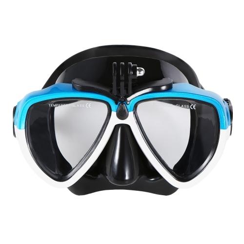 Lixada Anti-fog Óculos de Mergulho Máscara Snorkel Snorkel Óculos de Natação Óculos com Montagem Da Câmera