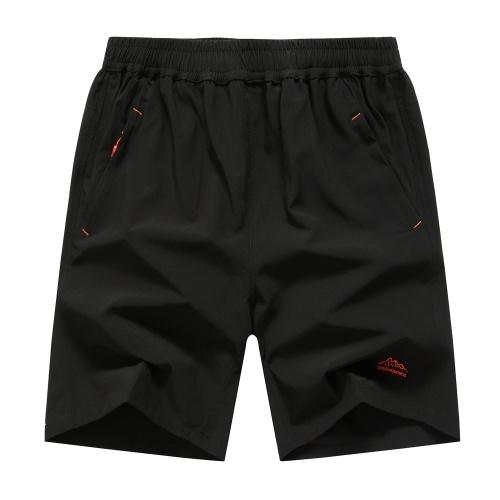 Homens Correndo Fitness Sports Quick Dry Calças Pure Color Respirável Solto Shorts com Bolsos