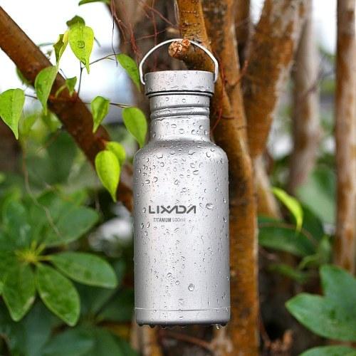 Bottiglia d'acqua in titanio Lixada 500ml / 750ml con coperchio in plastica extra Ultralight Outdoor Camping Hiking Cycling Bottle Bottle