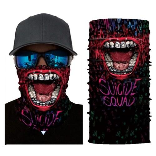 Cool Robot Skeleton Halloween Mask Scarf Joker z opaską na głowę Kominiarki