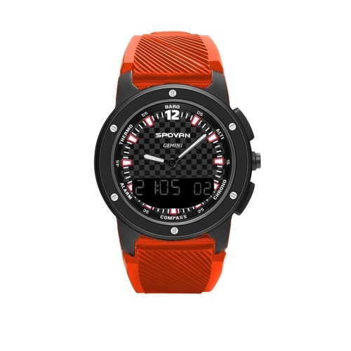 Men's Analog Compass Digital Dual Time Display Watch Outdoor Smart Sport Altimeter Barometer Watch 50M Waterproof