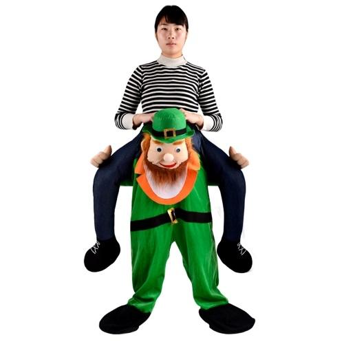 Engraçado Stuffed Carry Back Ride em trajes de calças de mascote