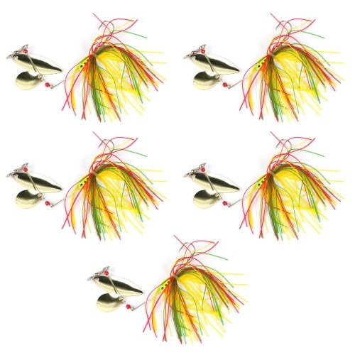 5pcs Fishing Spinner Baits Bass Fishing Lures Metal Hard Fishing Lure Spinner Lure Tackle