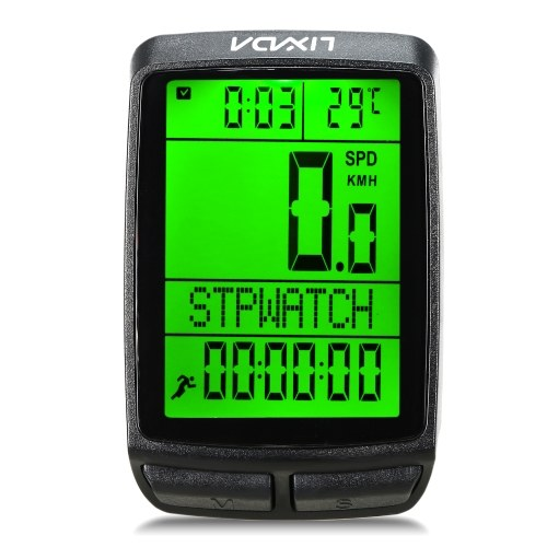 Lixada Wireless Bike Cycling Computer Bicycle Speedometer Odometer with LED Backlight