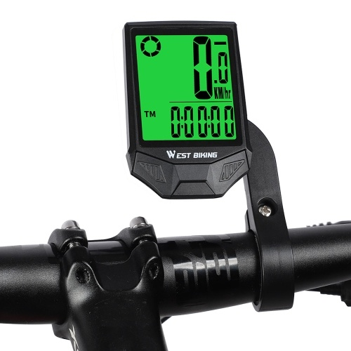 WEST BIKINGバイクコンピュータワイヤレススピードメーター走行距離計